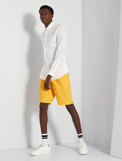 Camisa slim elástica                                                     blanco