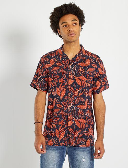 Camisa vaporosa                                                         AZUL
