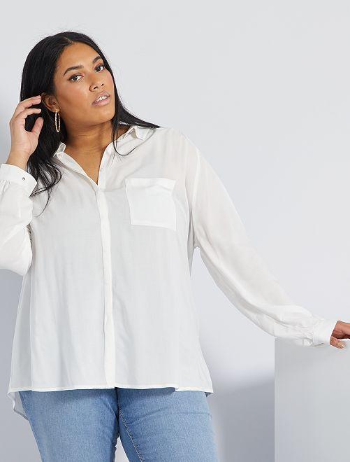 Camisa vaporosa                                                                                         blanco nieve