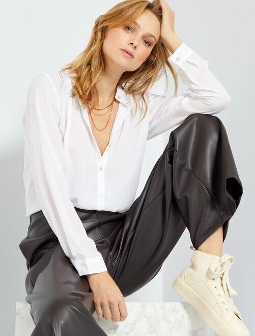 Camisa vaporosa                                                                                             blanco