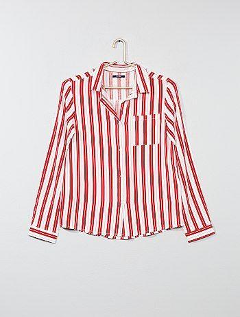 Camisa vaporosa con motivos - Kiabi