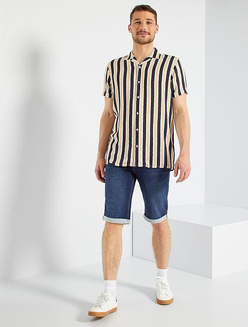 Camisa vaporosa estampada +1,90 m                                         AZUL