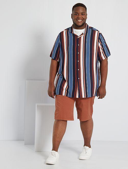 Camisa vaporosa estampada                                                                                         AZUL