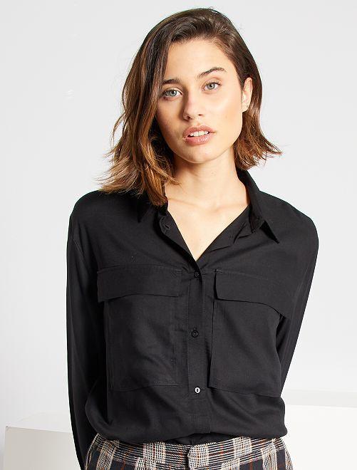 Camisa vaporosa                                                     negro