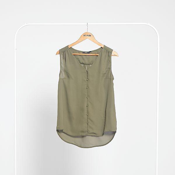 Camisa vaporosa sin mangas Mujer talla 34 a 48 AMARILLO