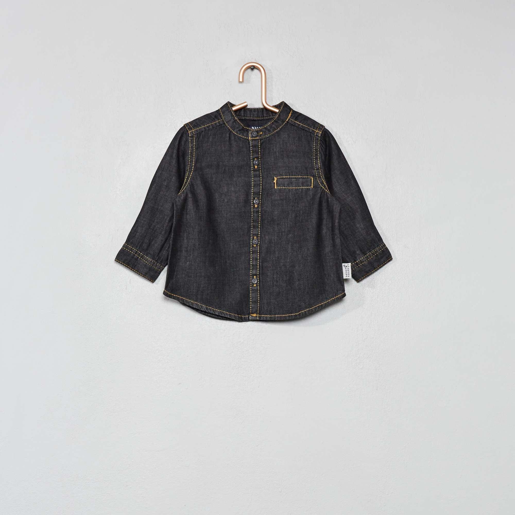 3a45a95338 Camisa vaquera con cuello redondo Bebé niño - BLANCO - Kiabi - 7