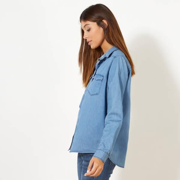 nuevo estilo sitio autorizado baratas para descuento Camisa vaquera regular