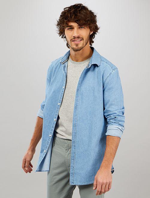Camisa vaquera slim                             stone