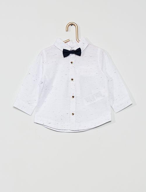 Camisa y pajarita                             BLANCO