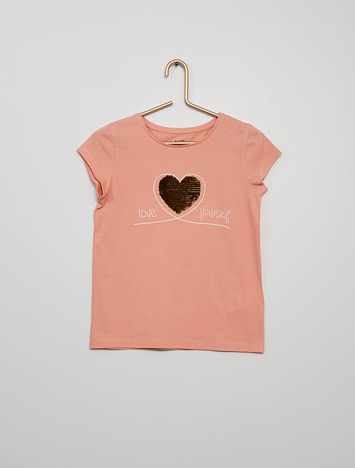 Camiseta 100 % algodón                             ROSA