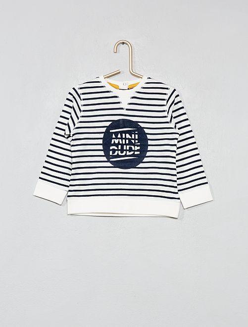 Camiseta a rayas                     BLANCO Bebé niño
