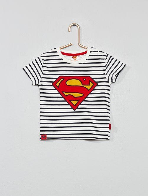 Camiseta a rayas 'Superman'                             a rayas Bebé niño