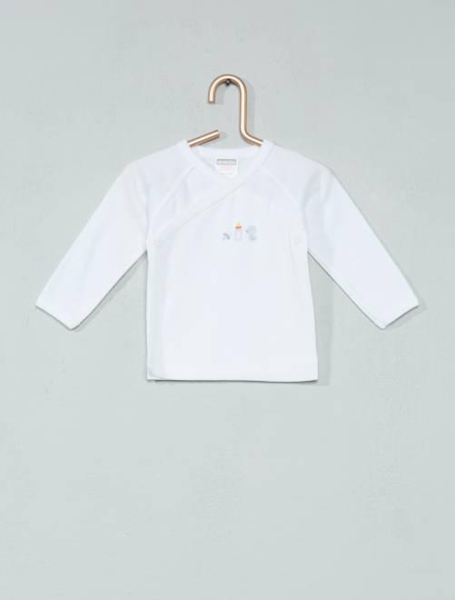 Camiseta 'Absorba' de algodón orgánico                             blanco Bebé niño