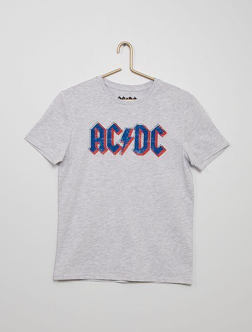 Camiseta 'ACDC'                             gris chiné