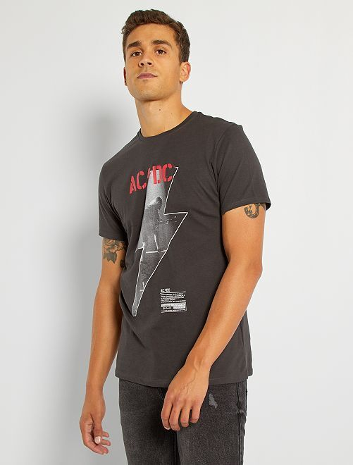Camiseta 'AC/DC'                             gris oscuro