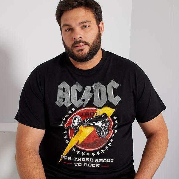 Camiseta Ac Dc Tallas Grandes Hombre Negro Kiabi 15 00