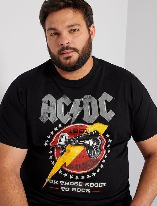 Camiseta 'AC/DC'                             negro