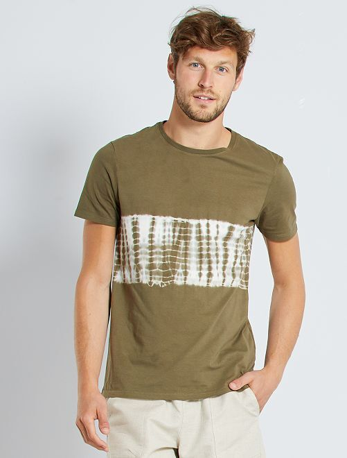Camiseta acid wash                                                                                         KAKI