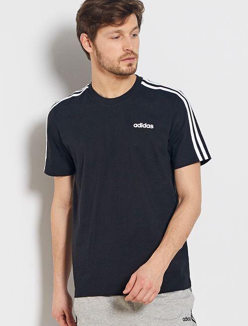 Camiseta 'adidas' 3 bandas                             NEGRO