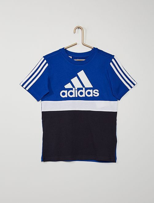 Camiseta 'Adidas' colorblock                             AZUL