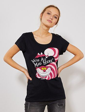 Mujer talla 34 a 48 - Camiseta 'Alicia en el país de las maravillas' - Kiabi