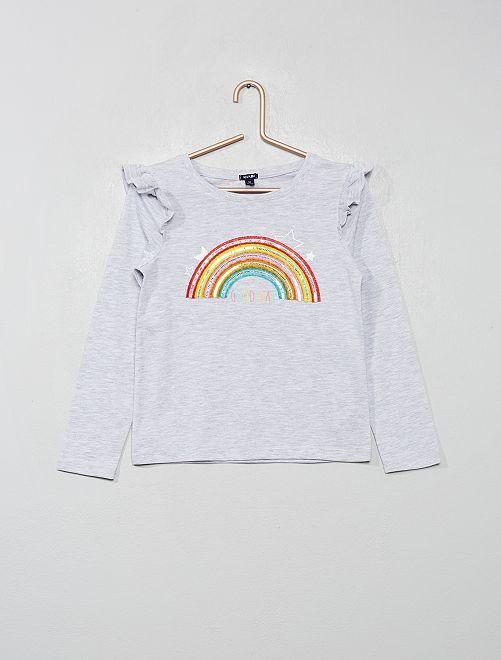 Camiseta 'arcoíris'                                         GRIS