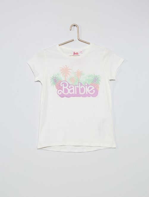 Camiseta 'Barbie' brillante                                         blanco