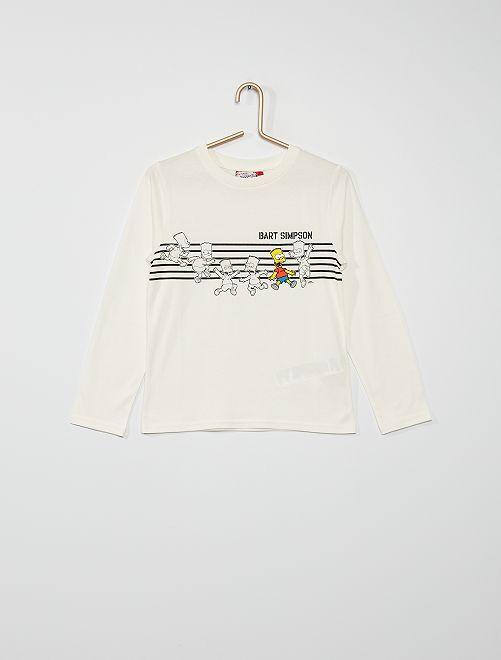 Camiseta 'Bart Simpson'                             blanco nieve