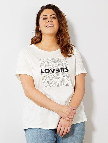1d5bd78d0ea Tallas grandes mujer - Camiseta básica 100 % algodón - Kiabi