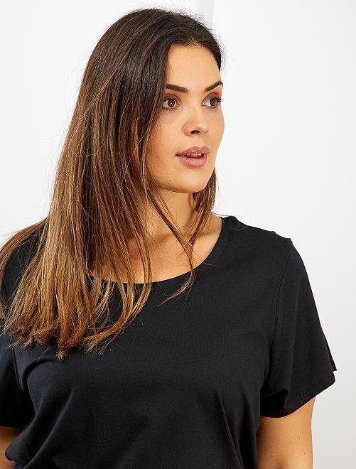 Camiseta básica 100 % algodón                                                                                                                                                                                                                 negro
