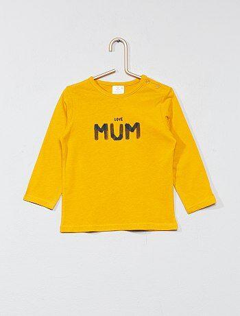 Camiseta básica con estampado - Kiabi