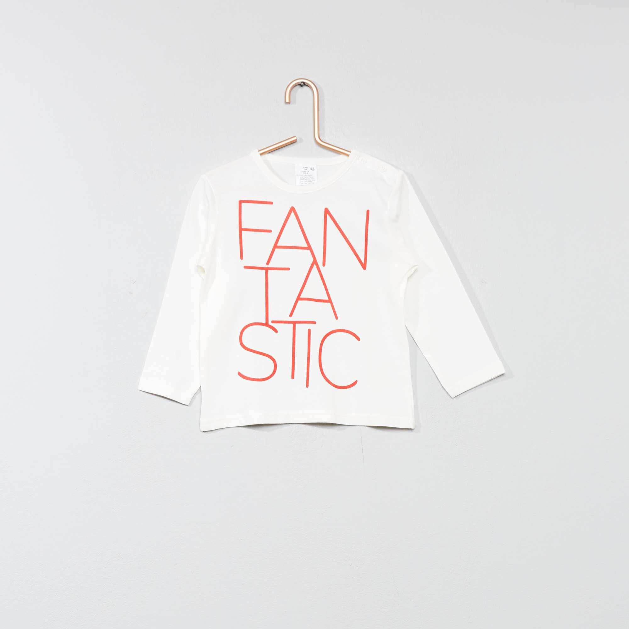 1a2e7403c Camiseta básica con estampado BLANCO Bebé niño. Loading zoom