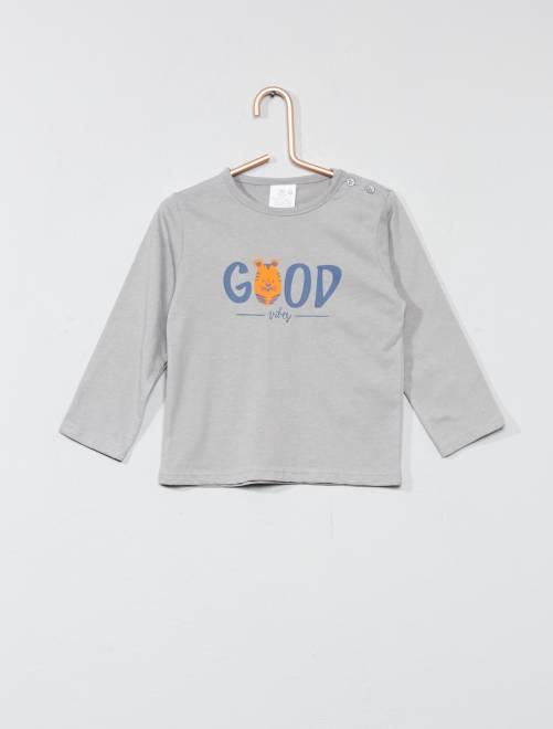 f5153e6ba9906 Camiseta básica con estampado Bebé niño - Kiabi - 2