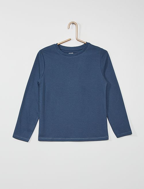 Camiseta básica de algodón                                                                                         AZUL