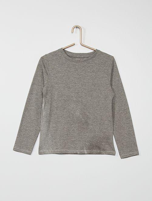 Camiseta básica de algodón                                                                                         GRIS