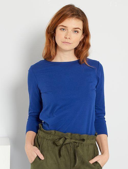 Camiseta básica eco-concepción                                                                                                                                                                 azul océano