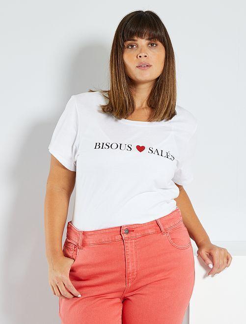 Camiseta básica 'eco-concepción'                                                                             BLANCO