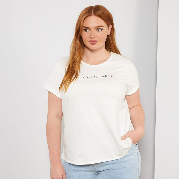 Camiseta Basica Eco Concepcion Tallas Grandes Mujer Kiabi 6 00