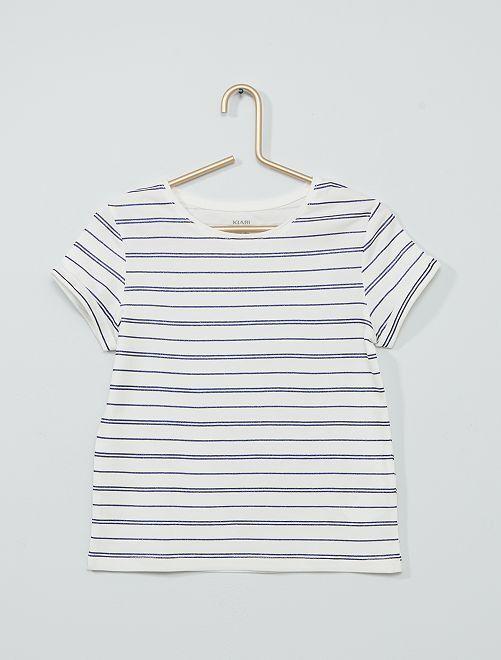 Camiseta básica estampada                             BLANCO