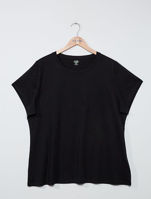 Camiseta básica estampada                                                                                                                                                                                                     negro