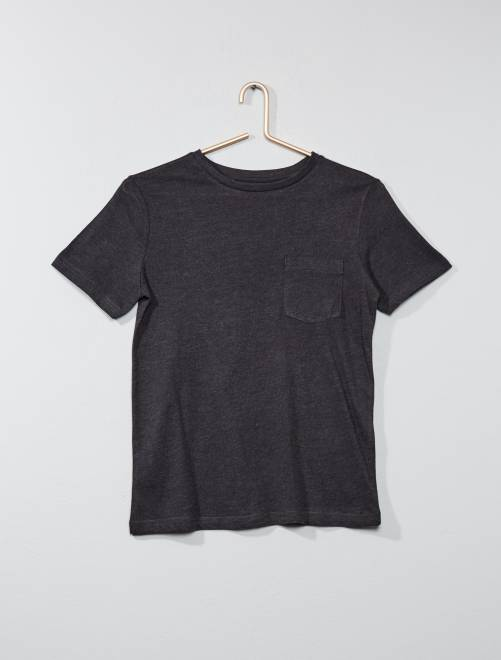 Camiseta básica                                                                             GRIS Joven niño