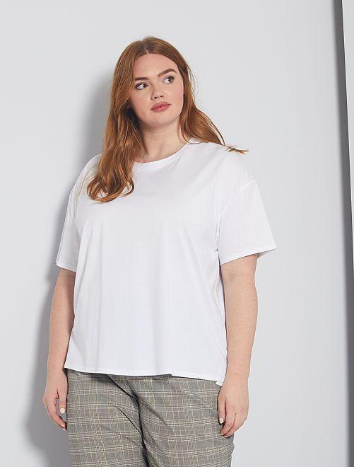 Camiseta básica oversize                                                     blanco
