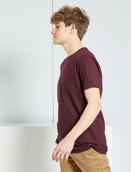 Camiseta básica                                                                             ROJO