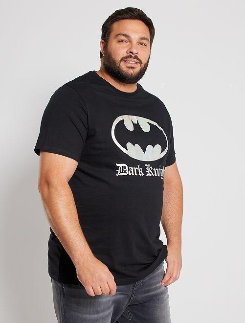 Camiseta 'Batman' efecto metalizado                             negro
