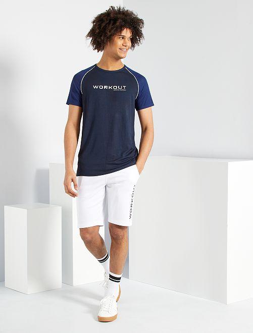 Camiseta bicolor eco-concepción                                         AZUL