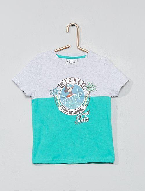 Camiseta bicolor 'Mickey'                                         gris/verde Chico