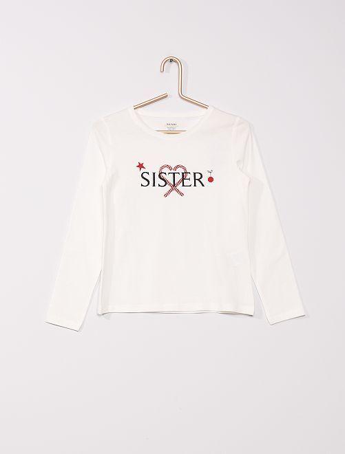 Camiseta + bolsa de 'Navidad' eco-concepción                                                     BEIGE