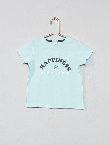 804bfb502 Niña 0-36 meses - Camiseta bordada 'amuleto' - Kiabi