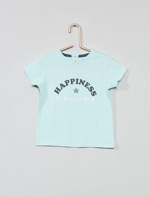 Camiseta bordada 'amuleto'                                         AZUL Bebé niña