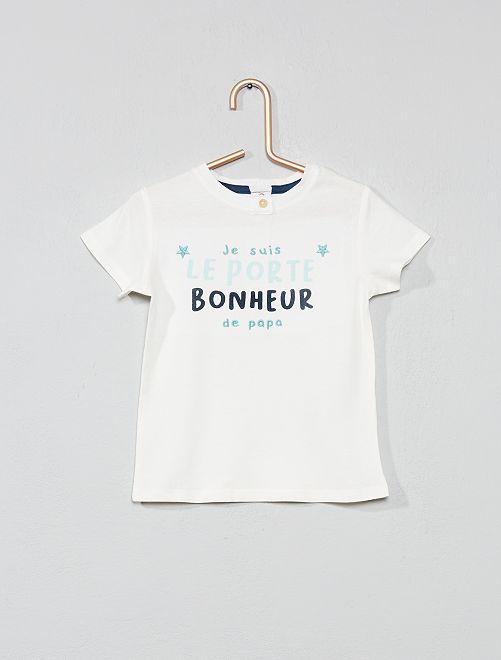 Camiseta bordada 'amuleto'                                                     BLANCO Bebé niña
